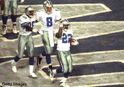 The Dallas Cowboys won three Super Bowls in four years.