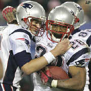 Tom Brady's passing and Corey Dillon's running helped New England win its third Super Bowl.